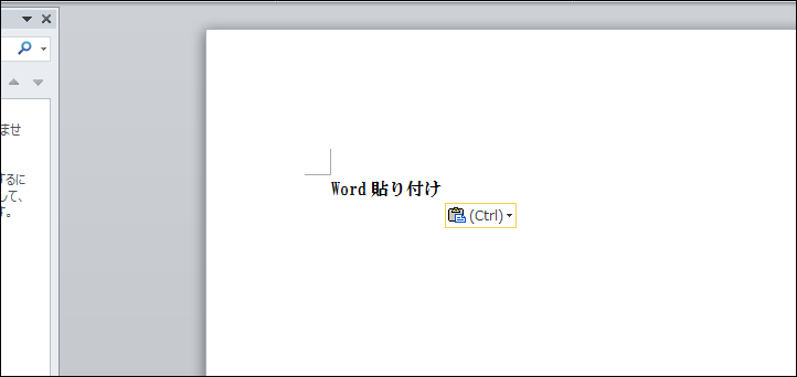 word貼り付け表示を消す